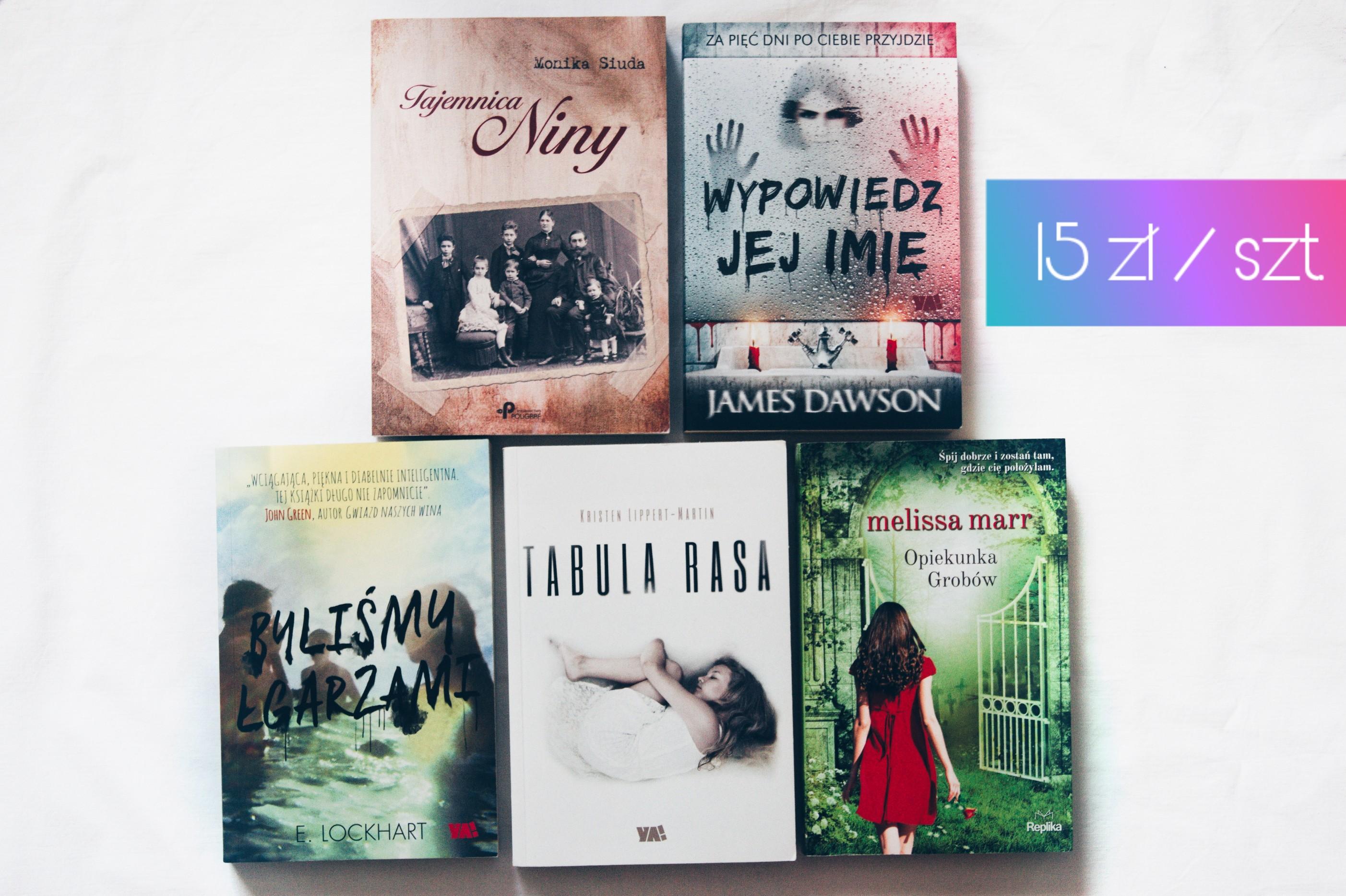książki thrillery młodzieżowe 15 zł